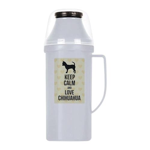 raça chihuahua garrafa térmica