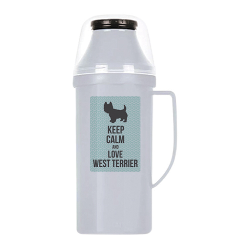 raça west terrier garrafa térmica
