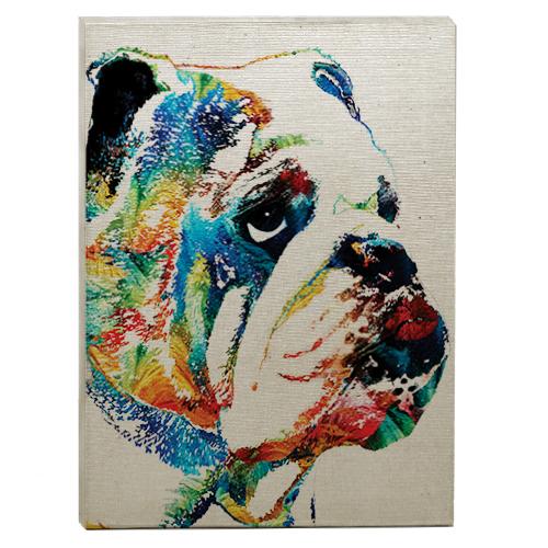 raça bulldog Inglês quadro colorido